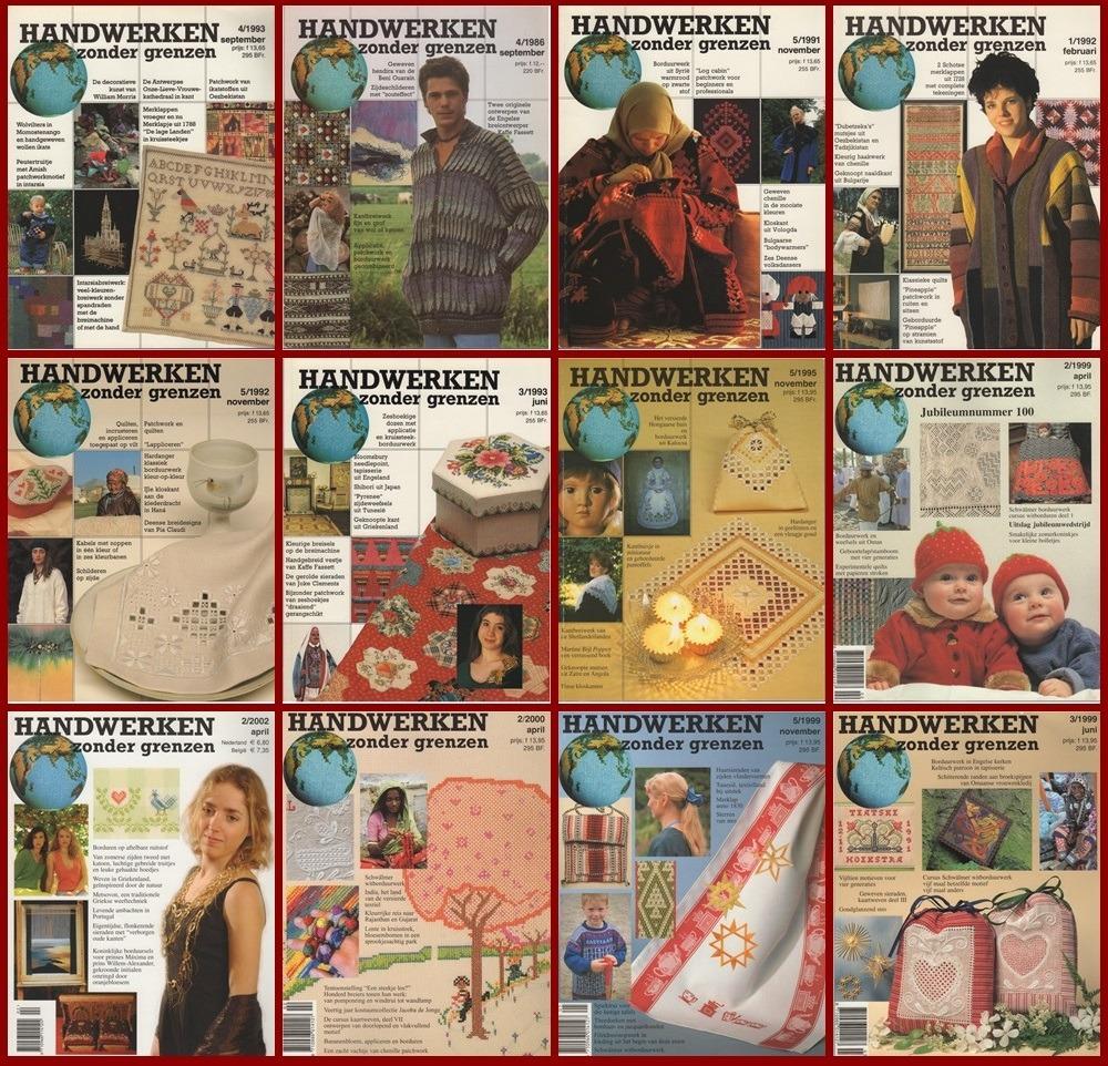 Twaalf tijdschriften Handwerken zonder grenzen
