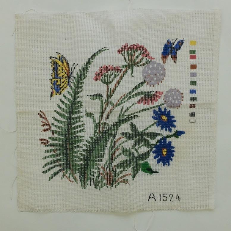 Voorbedrukt stramien bloemetjes