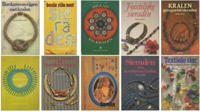 Collage boeken over kralen sieraden