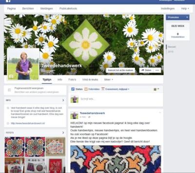 Facebook pagina Tweedehandwerk