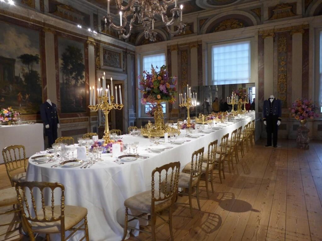 Gedekte tafel op paleis het Loo 2014