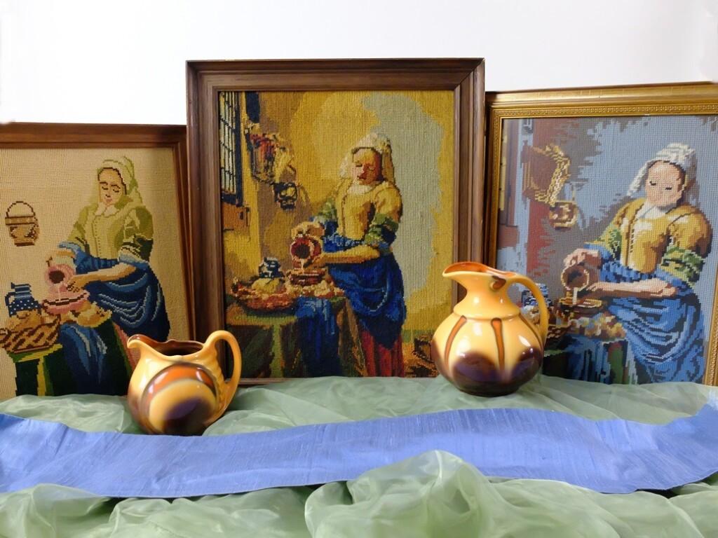 Borduurwerk Melkmeisje Vermeer