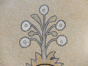 Mozaiek op vloer Rijksmuseum