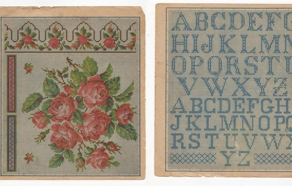 Oud borduurpatroon met alfabet(1)