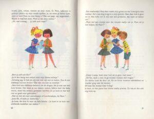 Pagina uit boekje ik leer breien
