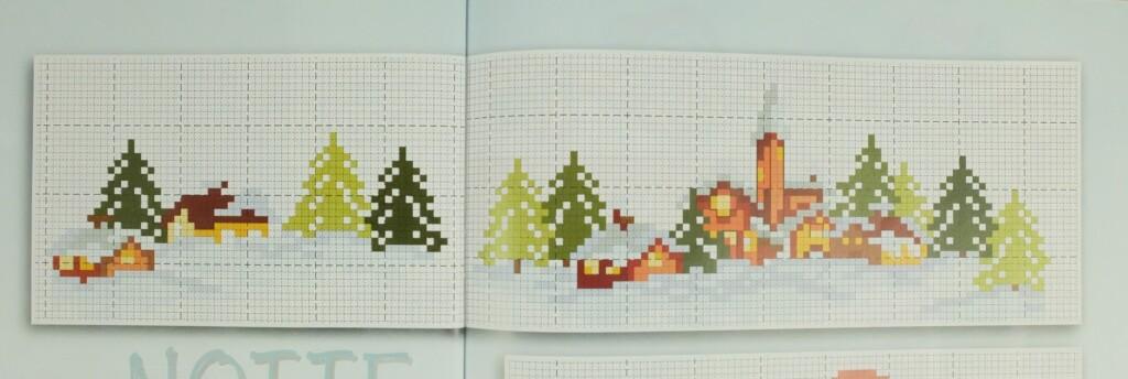 Pagina uit tijdschrift kerst borduren
