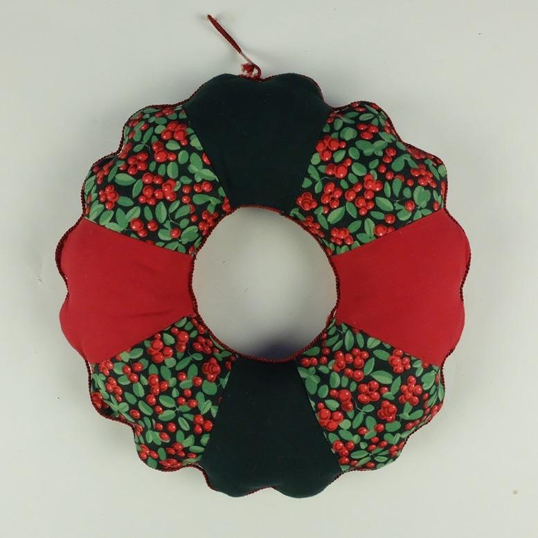 Patchwork kerstkrans