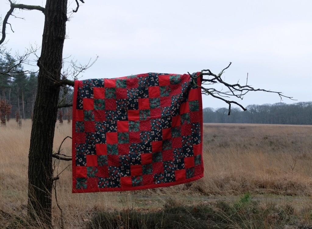 Rode- Quilt aan boom