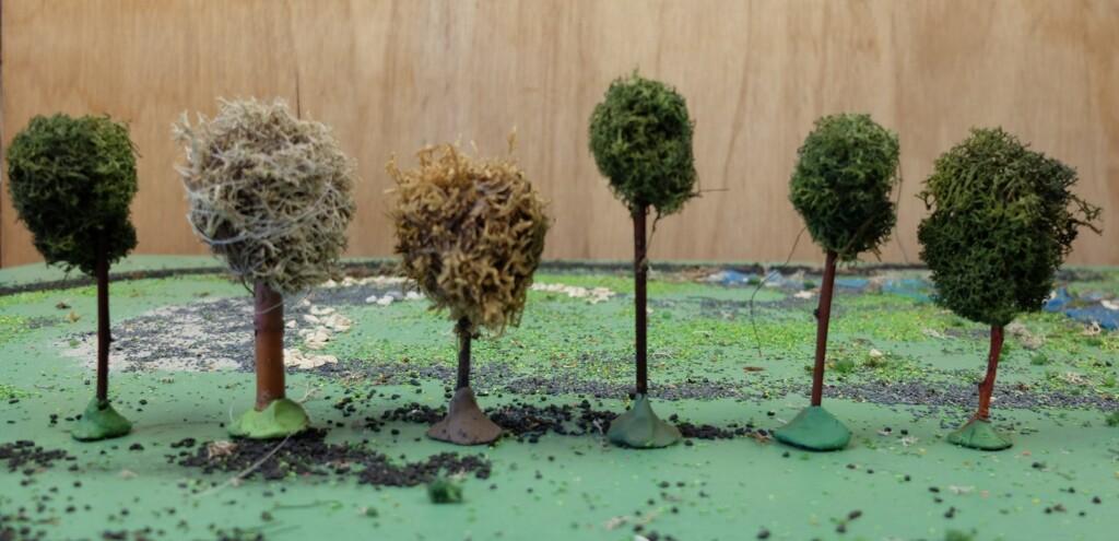 Zelfgemaakte boompjes voor marklin baan