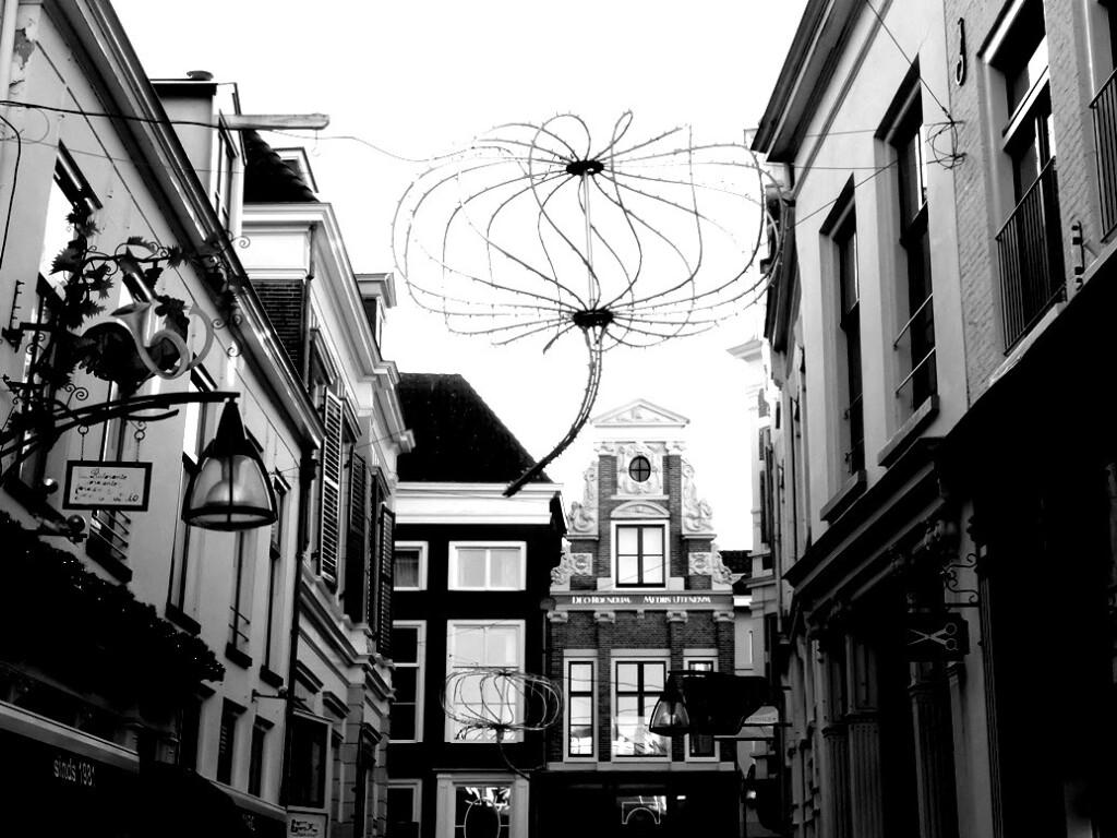 straatje in Deventer in december