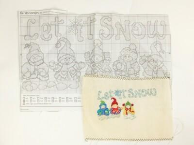 Borduurpatroon Let it snow