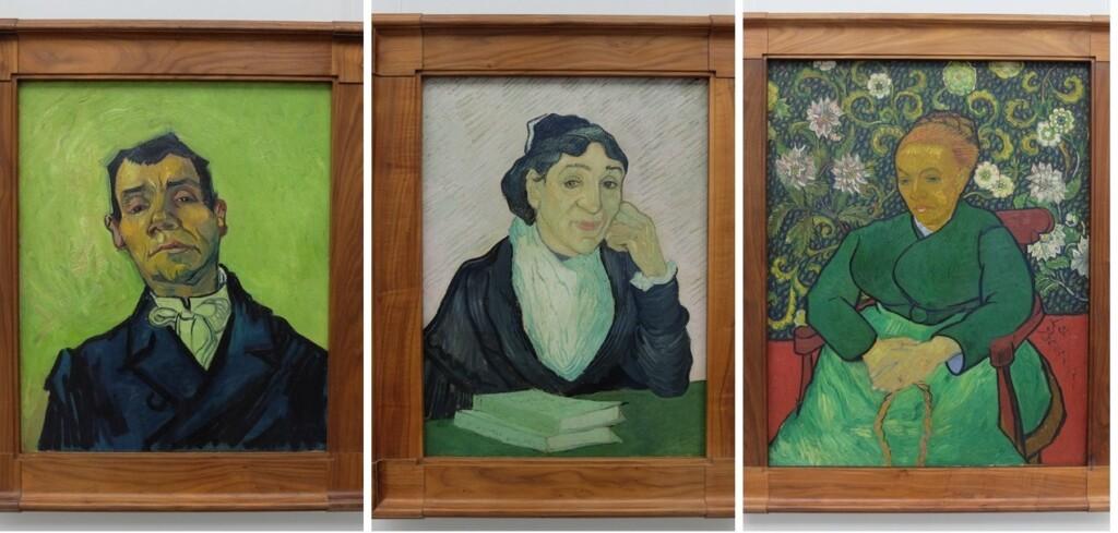 Drie portretten van Gogh