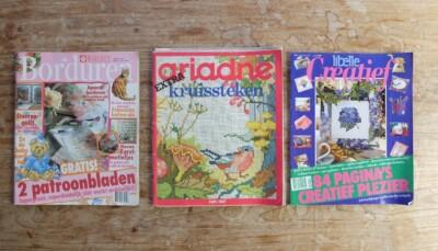 Drie tijdschriften borduren