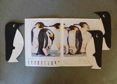 Kruissteekboek over Pinguins