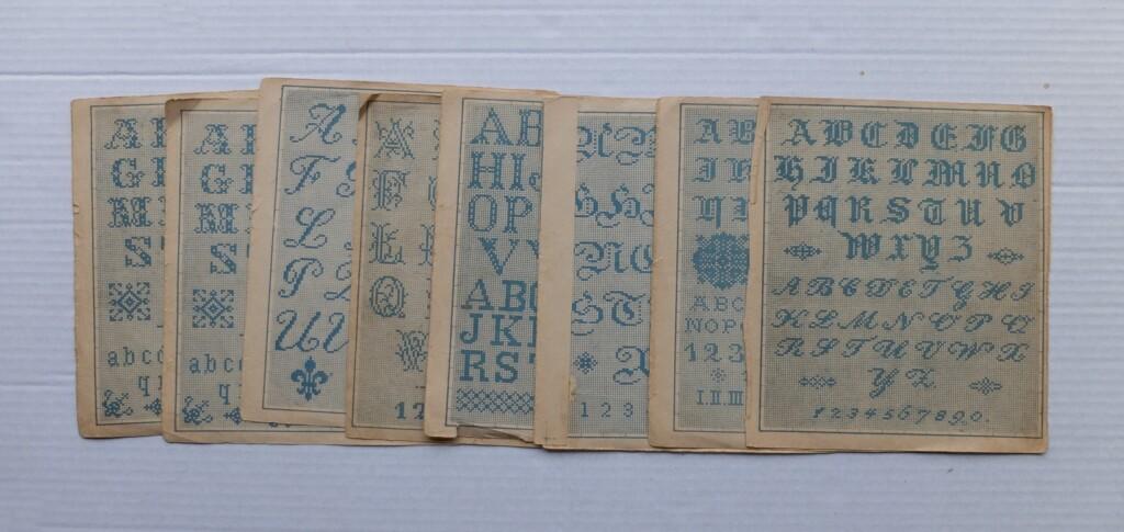 Oude patronen alfabet borduren