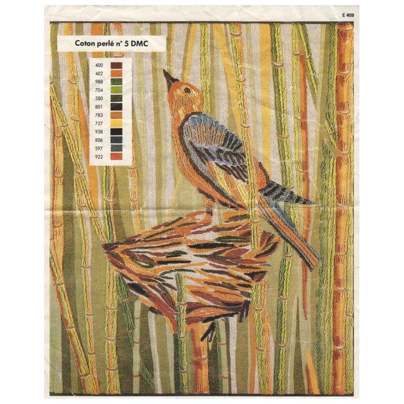 Patroon DMC vogeltje op nest borduren