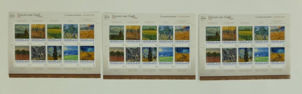 Postzegels van Gogh landschappen