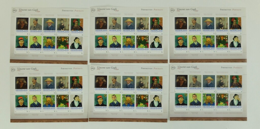 Postzegels van Gogh portretten
