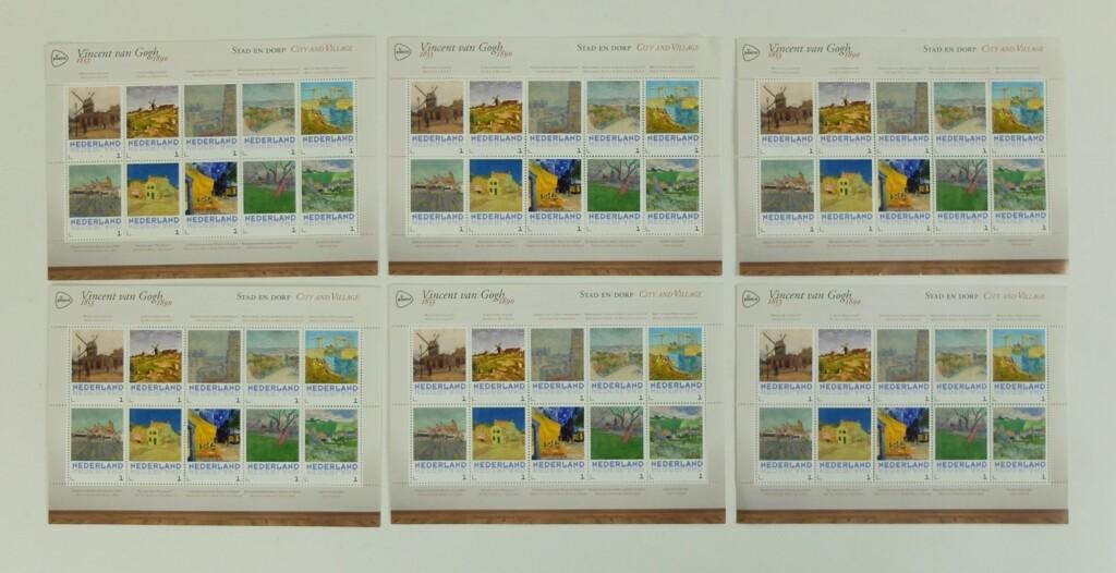 Postzegels van Gogh stad en dorp