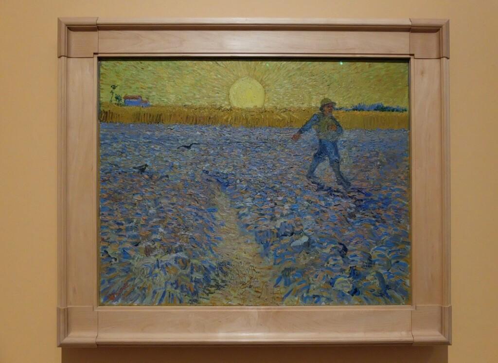 Schilderij van Gogh de zaaier