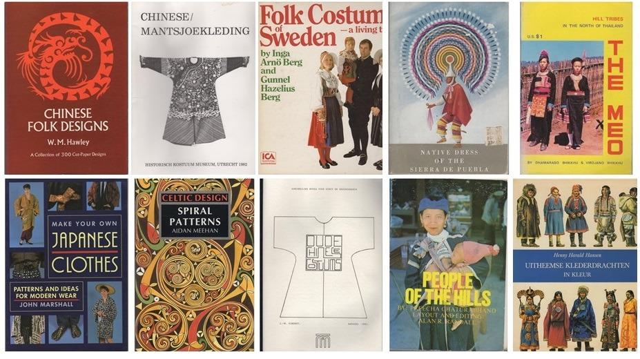 Tien boeken etnische kleding