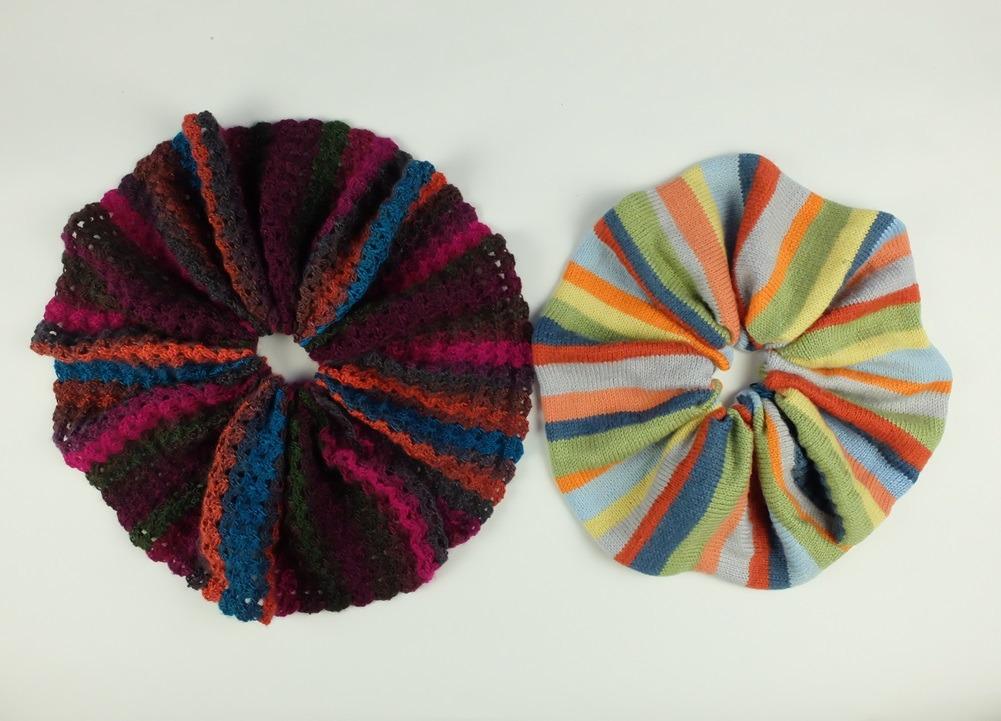 Twee sjaals in het rond