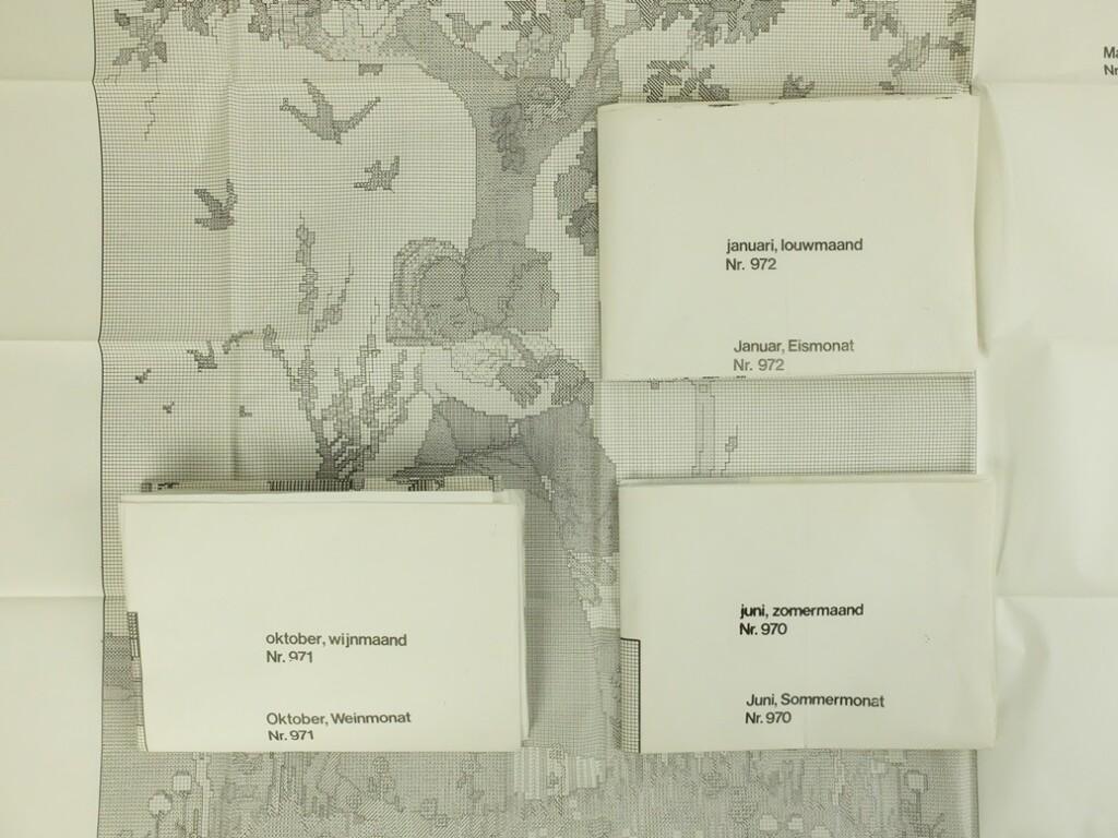 Vier grote borduurpatronen vier seizoenen Rie Cramer