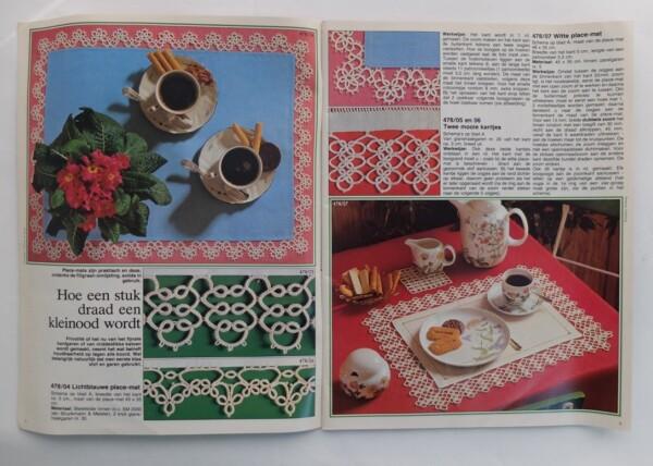 Pagina uit Burda frivolité
