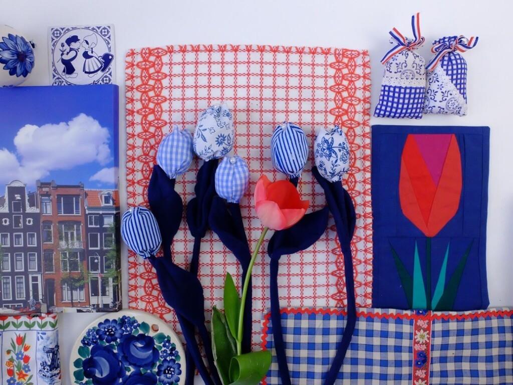 Rood en blauwe Dutch spulletjes