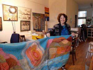 Saskia Weishut in atelier