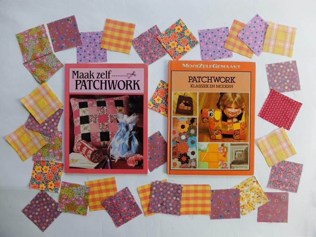Twee oude patchworkboeken