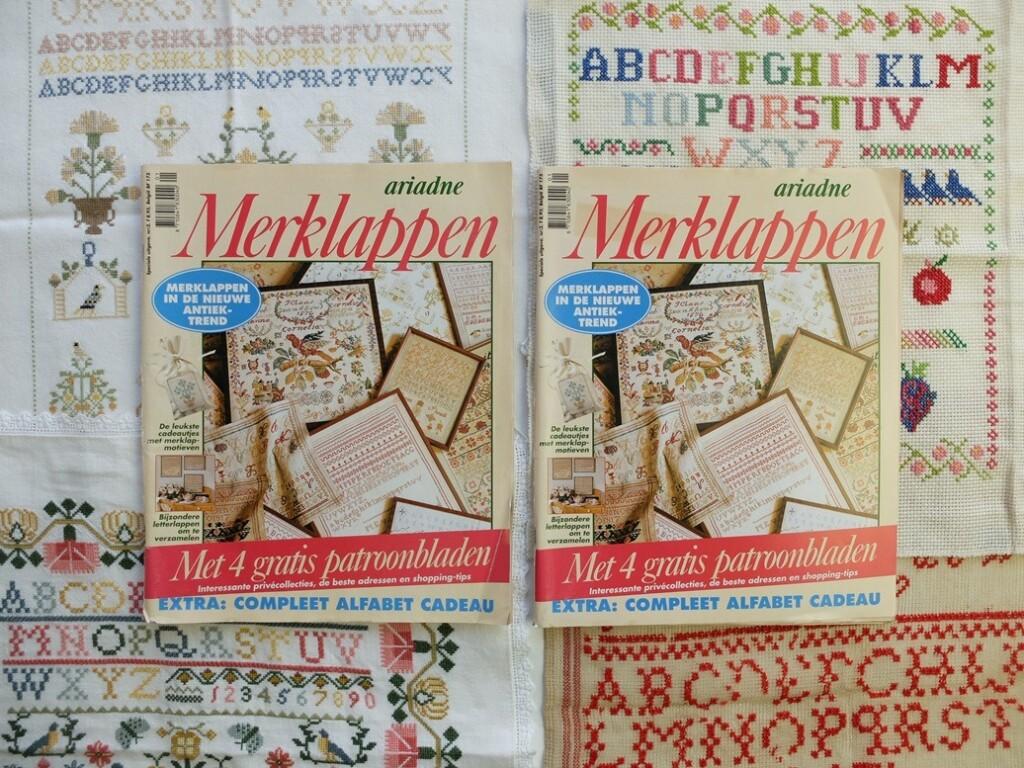 Twee tijdschriften Ariadne merklappen