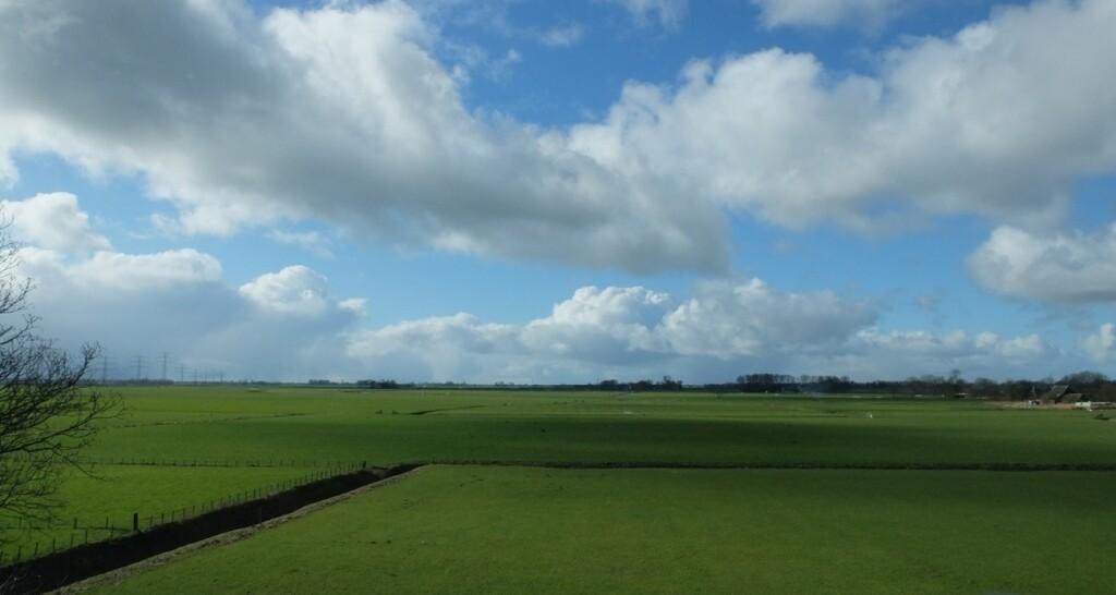 Uitzicht vanuit kerk in Groningen