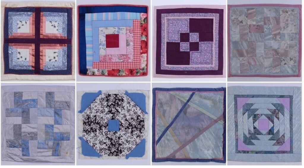 oude patchwork blokken