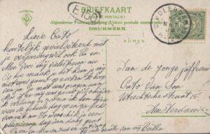 Achterkant-oude ansichtkaart Volendam