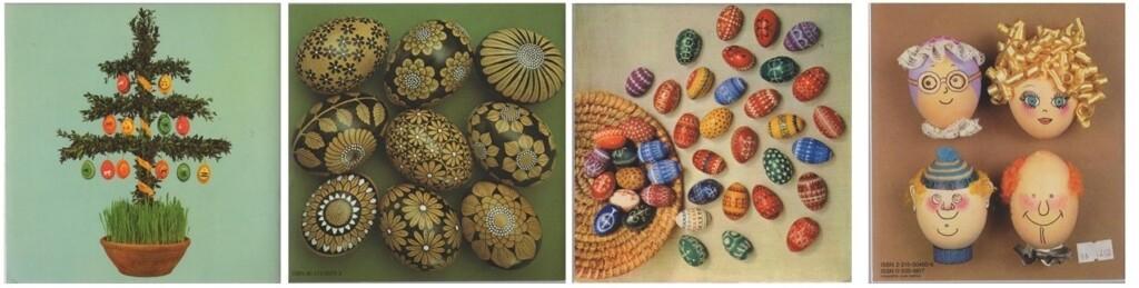 Achterkanten boekjes eieren beschilderen