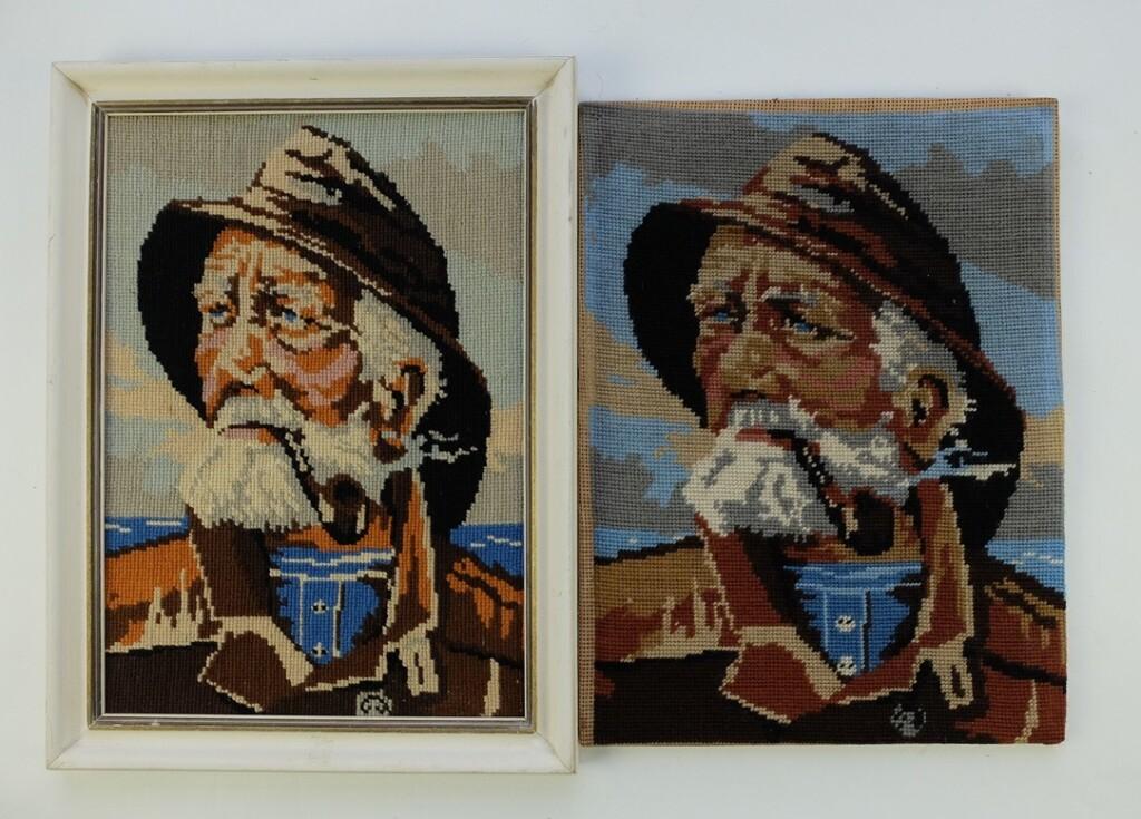 Borduurwerken Zeeman met pijp Dorus Rijkers