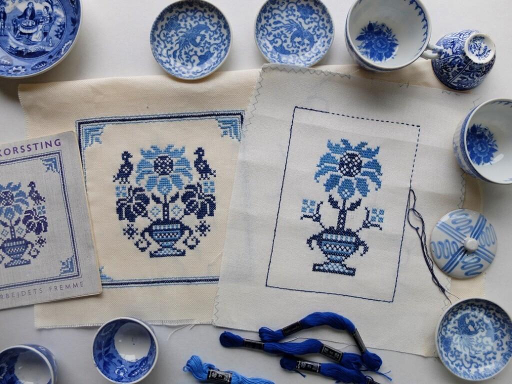 Borduurwerkjes blauw