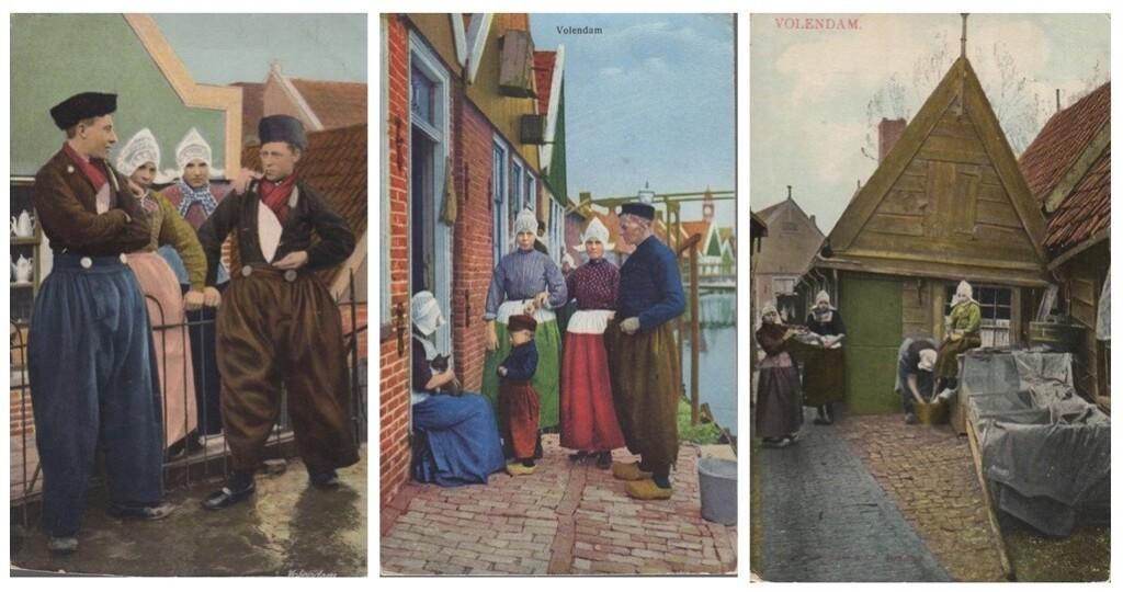 Drie oude ansichtkaarten Volendam