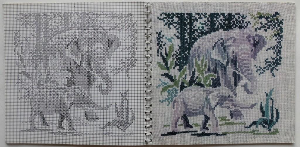 Kruissteekpatroon Olifanten