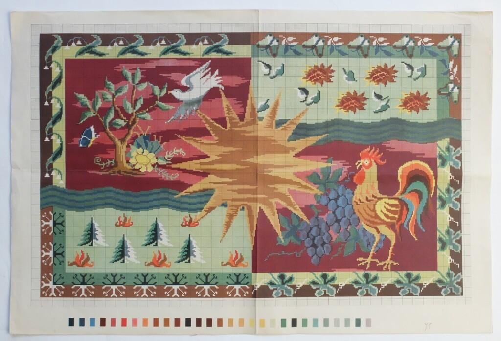 Oud borduurpatroon