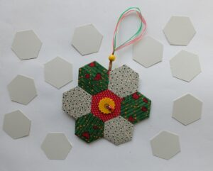 Patchwork decoratie hexagonnen
