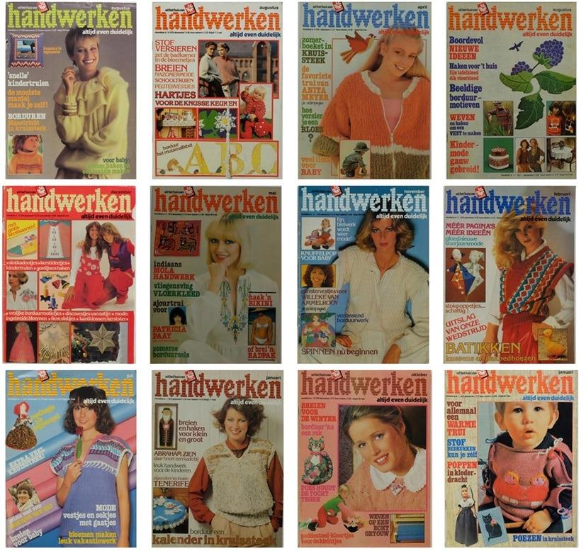Twaalf tijdschriften Handwerken