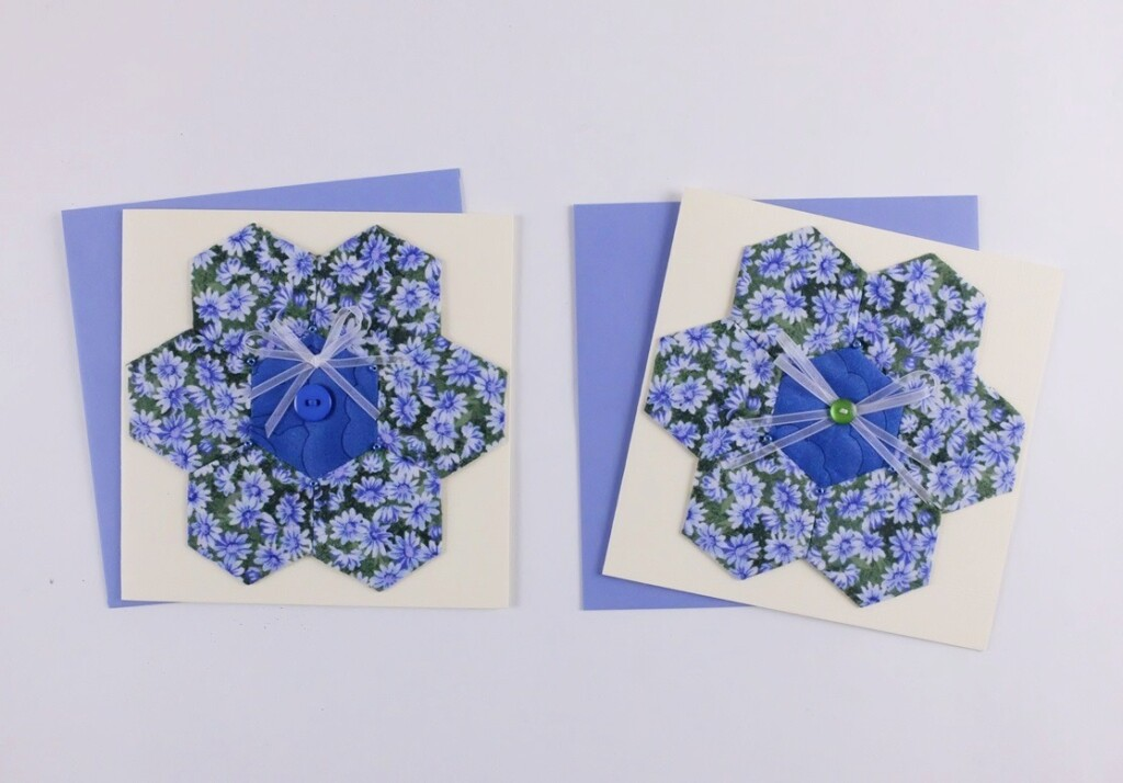 Twee kaarten met hexagonnen