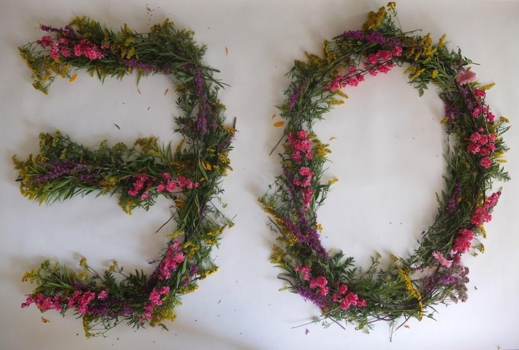 30 in bloemen