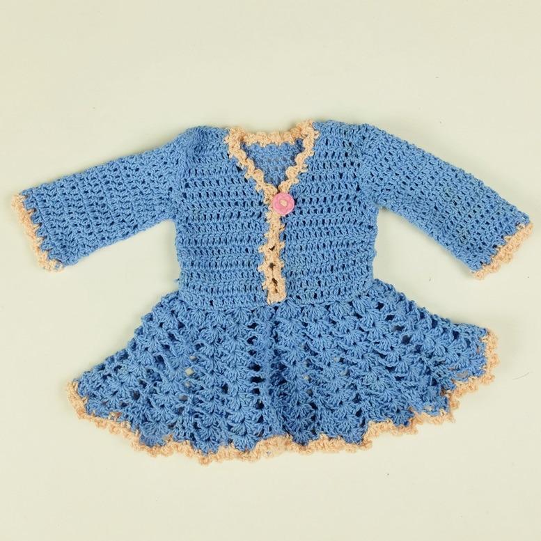 Blauw poppejurkje