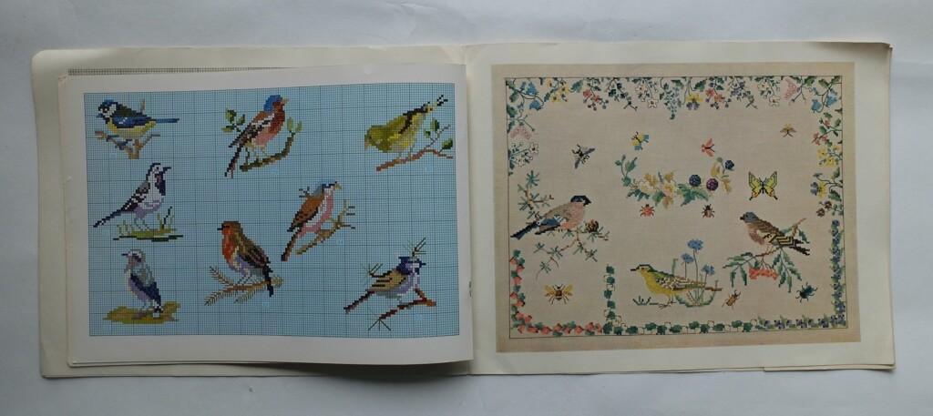 Borduurpatronen vogeltjes