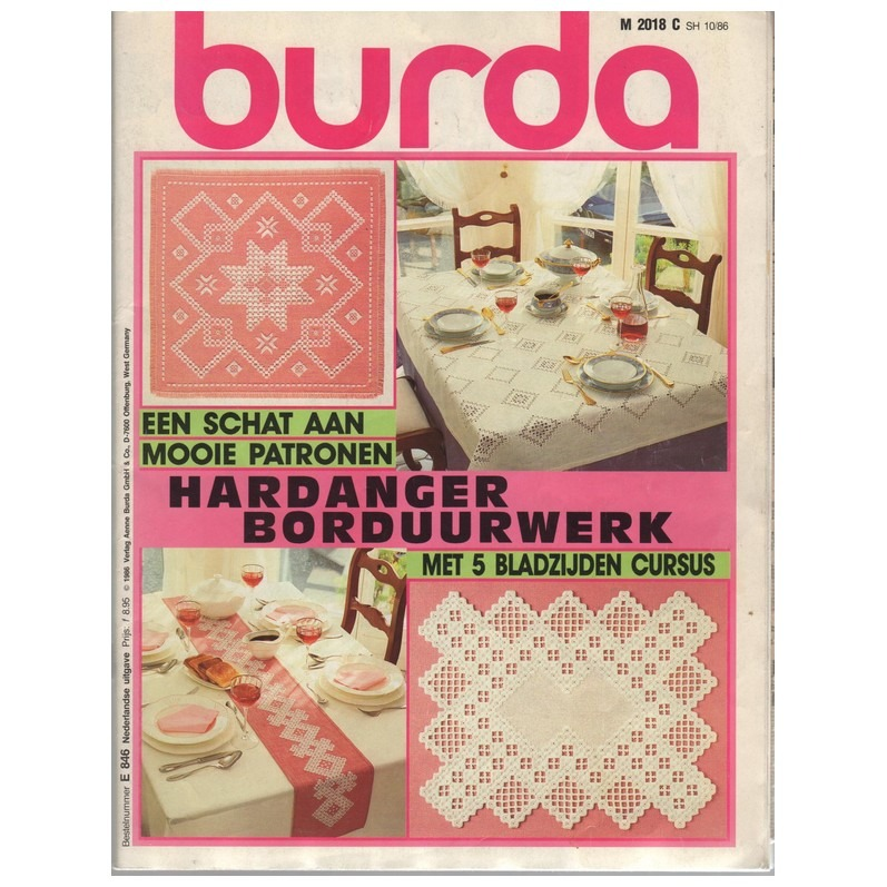 Tijdschrift Burda Hardanger