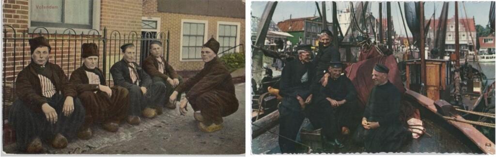 Twee oude ansichtkaarten Volendam
