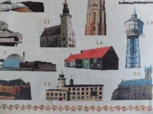 Borduurpatronen gebouwen Zeeland